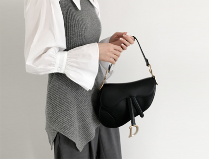 Ruffle knit vest