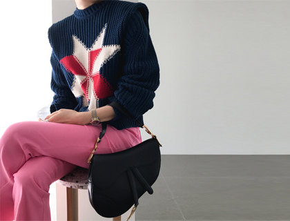 Octagon star knit