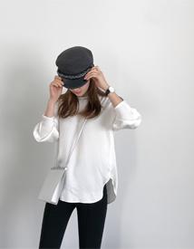 Sleeve pintuck blouse