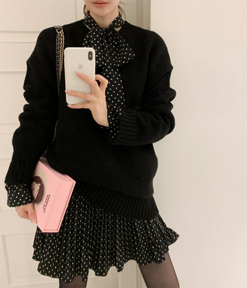 Loose fit knit