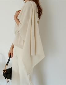 Drape muffler knit