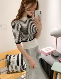 Banpola stripe knit
