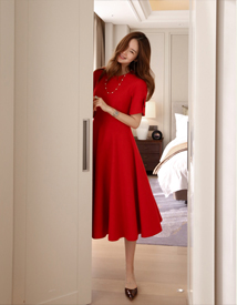 Blan wool dress