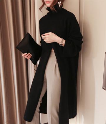 Slit knit dress