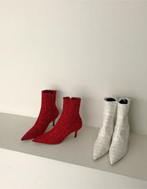 10018 tweed boots ♩