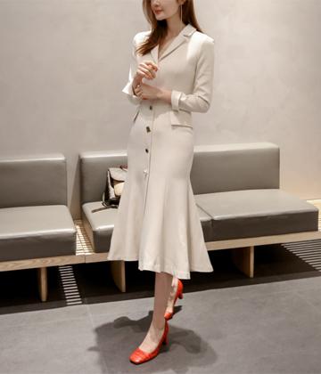 Elegance button dress