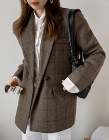 Crown check jacket