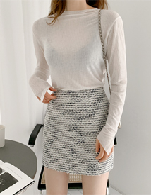 Gabriel tweed skirt