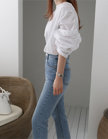 Alec shirring blouse