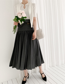 Muve belted skirt