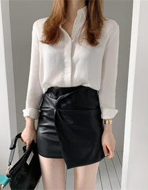 Apps leather skirt