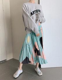 Art pleats skirt