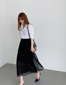 Mang pleats skirt