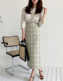 Sua check skirt