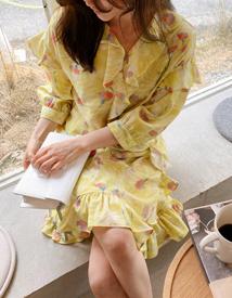 Spring frill dress