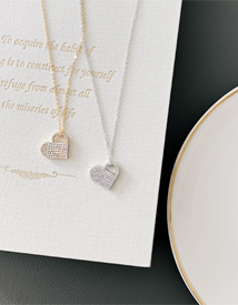 Cubic heart necklace