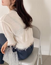 Fringe round knit