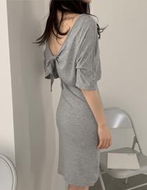 Back point dress