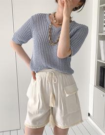 Tassel short pants