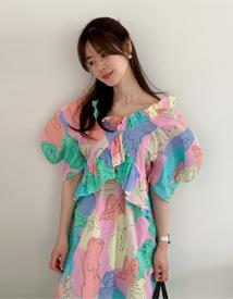 Rodang printing dress