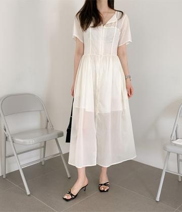 Wooa button dress