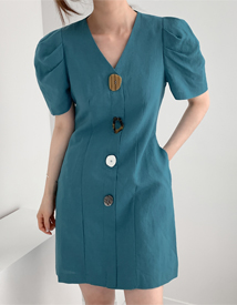 Pick button dress