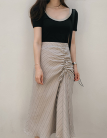 Egg shirring skirt