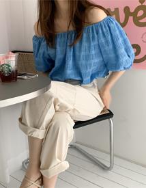 Izar shoulder blouse