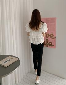 Basic cotton skinny pants