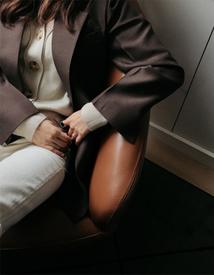 Coa wool silk jacket