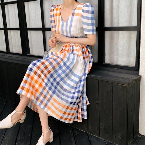 Lisa check dress
