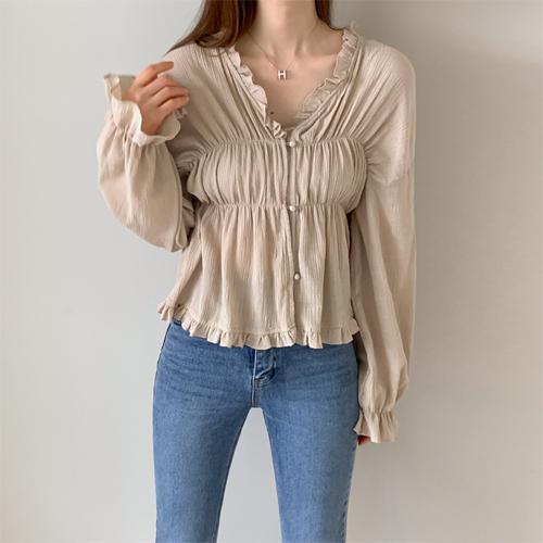 Moritz shirring blouse