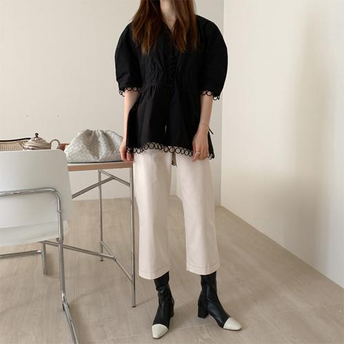 Twill stitch pants