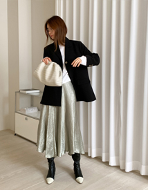Satin wasa skirt