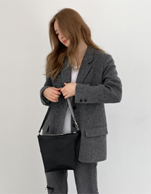 Herringbone wool jacket