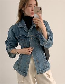 Slim line denim jacket