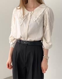Loel lace collar blouse