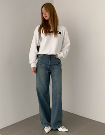 Rogina wide denim pants
