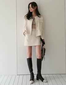 Simple tweed skirt