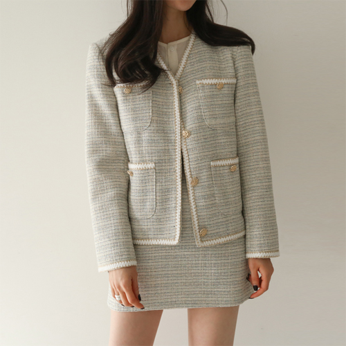Draw tweed jacket