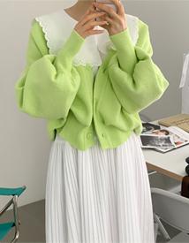 Cotton boxy cardigan