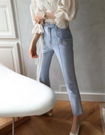 Unique denim pants