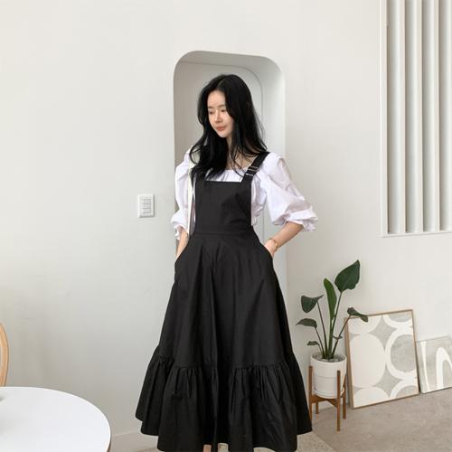 Frill suspender dress