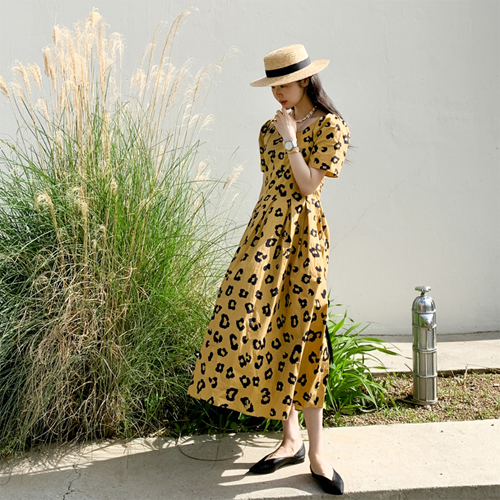 Leopard woman dress