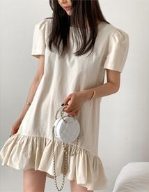 Paper mini dress