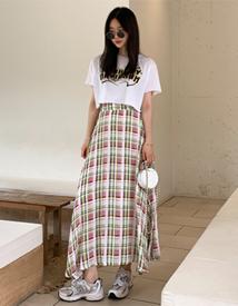 Bell check skirt