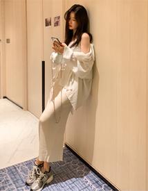 Dove long dress