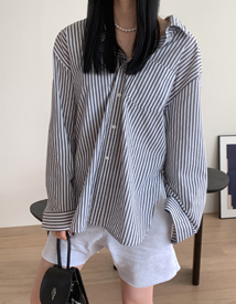 Cocoon stripe shirt