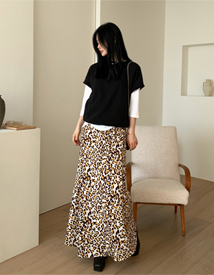 Jennie leopard skirt