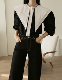 Double collar blouse